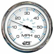 Faria 5 Speedometer 60 Mph Gps Studded Chesapeake White W/stainless Stee...