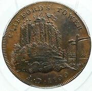 1795 England Yorkshire Cliffordand039s Tower York Conder 1/2 Penny Pcgs Coin I84269