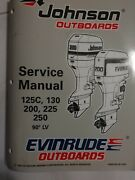Johnson Outboards Service Manual125c,130,200,225,250,90lv Evinrude Outboards