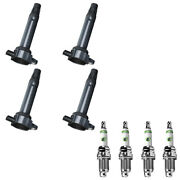 Uf557 Ignition Coils + E3 Racing Spark Plugs Kit For Chrysler Dodge Jeep