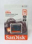 Sandisk Ultra Compact Flash Memory Card - 16 Gb 50 Mb/s Sdcfhs-016g-a46