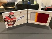 National Treasures Autograph Jersey Booklet Chiefs Jamaal Charles 24/25 2013