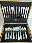 Birks Sterling Silver Flatware Set - Luncheon Set For 12 - And039george Ii Plainand039