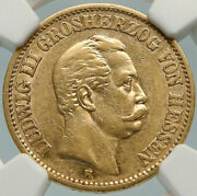 1873 Germany German States Hesse-cassel Ludwig Iii Gold 20 Mark Coin Ngc I84793