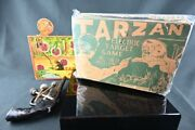 Tarzan In The Jungle Target Game - 1935 - Complete With Gun Darts And Targets