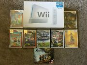 Nintendo Wii Console Ultimate Bundle 8 Games Complete In Box Very Good