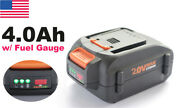 Wa3578 20v Max Lithium 4.0ah Battery For Worx Power Share Hedge Trimmer Blower
