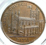 1790 England Uk Somersetshire Bath Abbey Church And Guild Conder Token Pcgs I84017