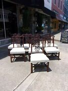 Set Of Eight Dining Room Chairs By Century The British Collection 20thc