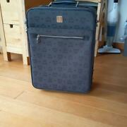 Used Mcm Travel Carry On Bag Suitcase Luggage With Key Rare