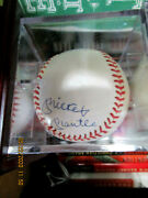 Willie Mays ,duke Snyder,mickey Mantle Autographed Ball Hall Of Famers Jsa Authe