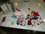 Vintage Ginny Doll Case Clothes And Accessories