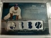2009 Topps Sterling Jackie Robinson 4 Pc Relic W/prime Jersey Patch 1 Of 1 1/1