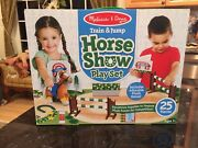 Melissa And Doug Train And Jump Horse Show Play Set Brand New