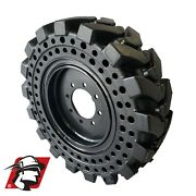 10-16.5 Solid Skid Steer Tires With Wheels 30x10-16.5