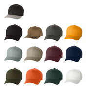 50/pk S/m Flexfit Structured Twill Fitted Cap Baseball Hat 6277