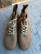 German Army Field Leather Boots M42 Ww2 Repro Size 45 New