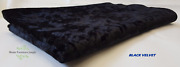 Black Crushed Velvet Upholstery Fabric 40 Metres 57 Inch Wide Beds Ottomans Sofa