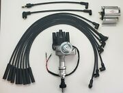 Ford Big Block 351c 429 460 Black Female Small Hei Distributor + Wires +60k Coil