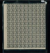 1923 United States Postage Stamp 611 Plate No. 15028 Mint Full Sheet