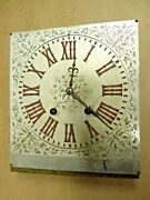 Antique Clock Dial And Movement- Unusual