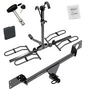 Trailer Tow Hitch For 15-19 C300 Platform Style 2 Bike Rack + Hitch Lock And Cover