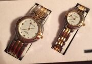 Geneva Quartz Watches His And Hers Gold And Silver Water Resistance