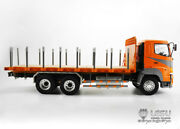 Lesu 1/14 Hino Rc 64 Flatbed Lorry Trailer Metal Chassis Tractor Truck Model