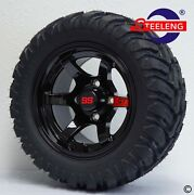 Golf Cart 12 Black And039gtand039 Wheels/rims And 20x10-12 A/t M/t Dot Tires