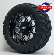 Golf Cart 12 Black And039pioneerand039 Wheels/rims And 20x10-12 A/t M/t Dot Tires