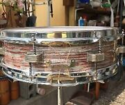 1960s 14andtimes4 Inch Ludwig Down Beat Snare Color Pink Oyster Very Rare From Japan