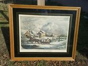 American Farm Scenes No.4 Winter 1853 Currier And Ives F.f.palmer Lithograph Print