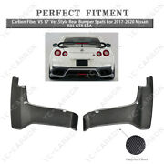 Carbon Fiber Vs 17and039 Ver.style Rear Bumper Spats For 2017-2020 Nissan R35 Gtr Eba