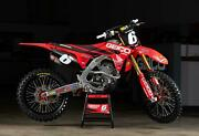 Geico Honda Graphics + Plastic Kit + Forks + Seat Cover Crf 250 18 - 19 - 2020