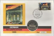 1990 German Re-unification Of The Marshall Islands 5 Dollar Fdc  pennies2pounds