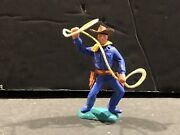 1 60and039s Britains Timpo Swoppet Toy Soldier Wild West Cowboy With Lasso Rope
