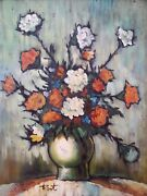 Original Oil Painting By Ann Julia Rant Bouquet Of Clove Flowers 28andtimes32 Inches