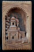 Exquisite Vintage Large Finely Carved Orthodox Shrines Wood Panel 20 By 12.25