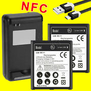 New 2x 6270mah Nfc Battery Rapid Charger Cable Cord For Samsung Galaxy S4 S975l