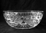 Waterford Overture Germany Heavy Full Lead Crystal Bowl 10 Inches