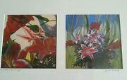 Janet Century Pair Of Lithographs Oriental Lily With Ginger