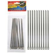 10pc Stainless Steel Cable Ties 150x4mm Diy Craft Supply For House Projects