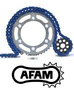 Afam Upgrade Blue Chain And Sprocket Kit Suzuki Lt80 K-k6 Quad 89-06