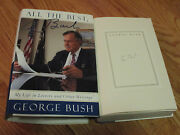President George Bush Signed All The Best 1999 Hard Cover Book Coa Book Plate
