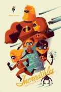 The Incredibles By Tom Whalen - Very Rare Sold Out Mondo Print