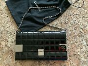 100 Authentic Vintage Quilted Leather Clutch With Card Holder W/chain