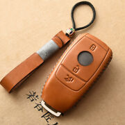18 19 20 Mercedes Benz Leather Key Cover Case Remote Holder A E S Class Amg Fob