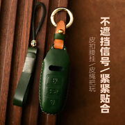 18 19 Audi A6 A7 A8 Q8 S Rs Leather Fob Key Chain Ring Cover Case Shell Holder