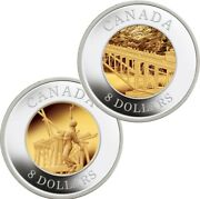 Canada 8 2005 Silver Gold-plated Proof Set 'chinese Railway Workers' 2 Coins