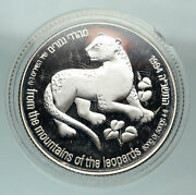 1994 Israel Song Of Songs Leopard And Palm Tree Proof Silver 2 Shekels Coin I84813
